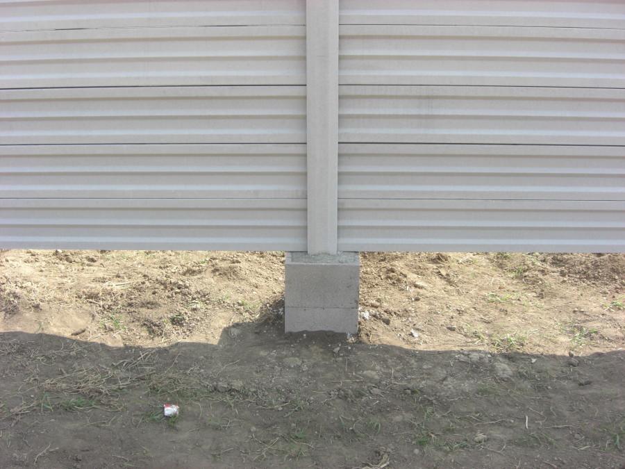 Pätka betónového oplotenia