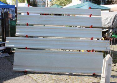 Ukážka betónových dosiek v rôznych veľkostiach