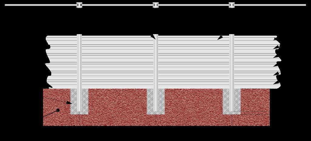 montáž s betónovými pätkami