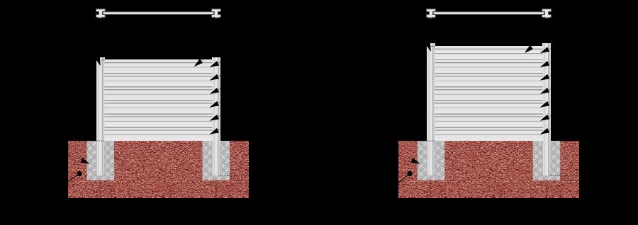 Vizualizácia - montáž betónových plotov s betónovými pätkami