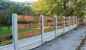 Kombinácia betónového plota TR beton s drevom